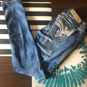 Rock Revival Light Wash Blue Jean Size 26